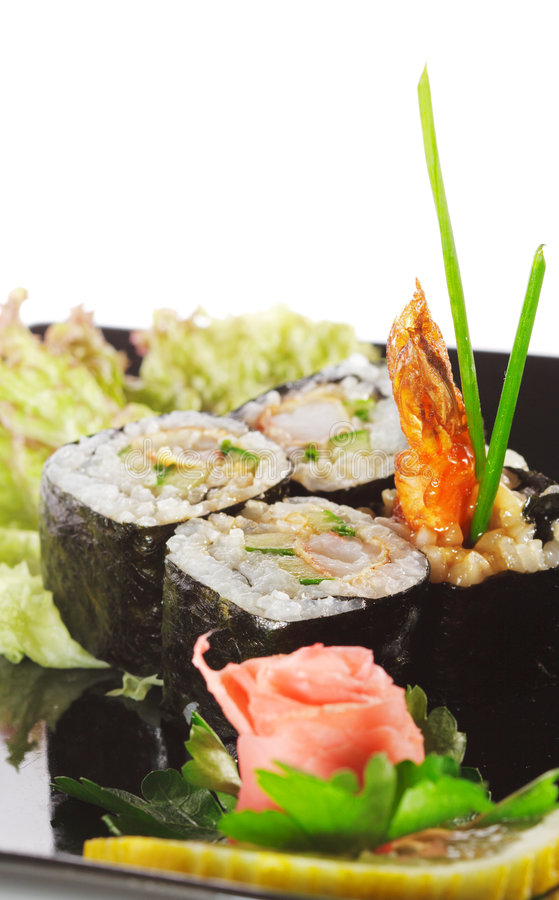 Culinária japonesa - sushi imagem de stock