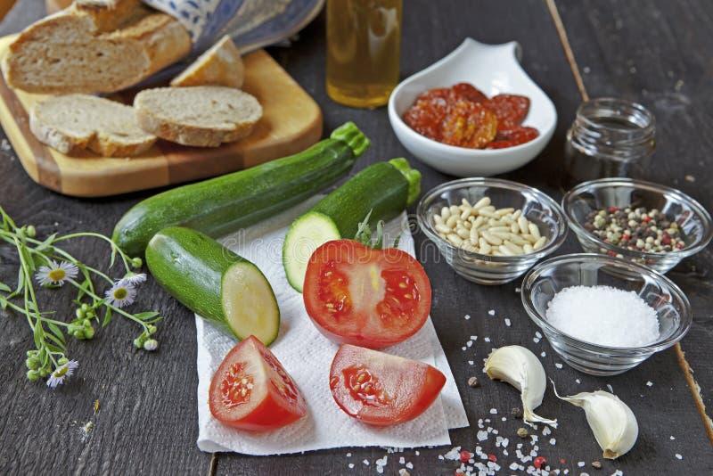 Culinária mediterrânea imagens de stock