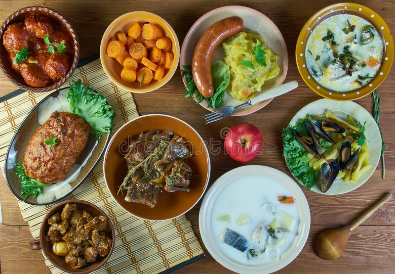 Culinária nacional belga fotos de stock