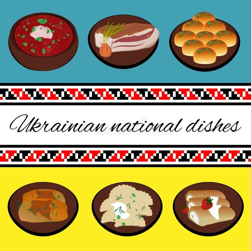 Culinária nacional ucraniana ilustração royalty free