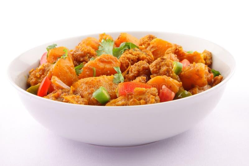 Culinária seca do indiano e do Nepali de Aloo Gobi imagem de stock royalty free