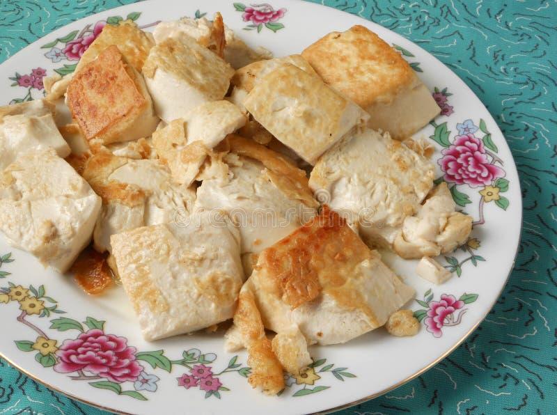 Culinária suavemente fritada do tofu do singapurense imagem de stock