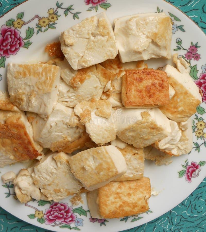 Culinária suavemente fritada do tofu do singapurense fotografia de stock royalty free