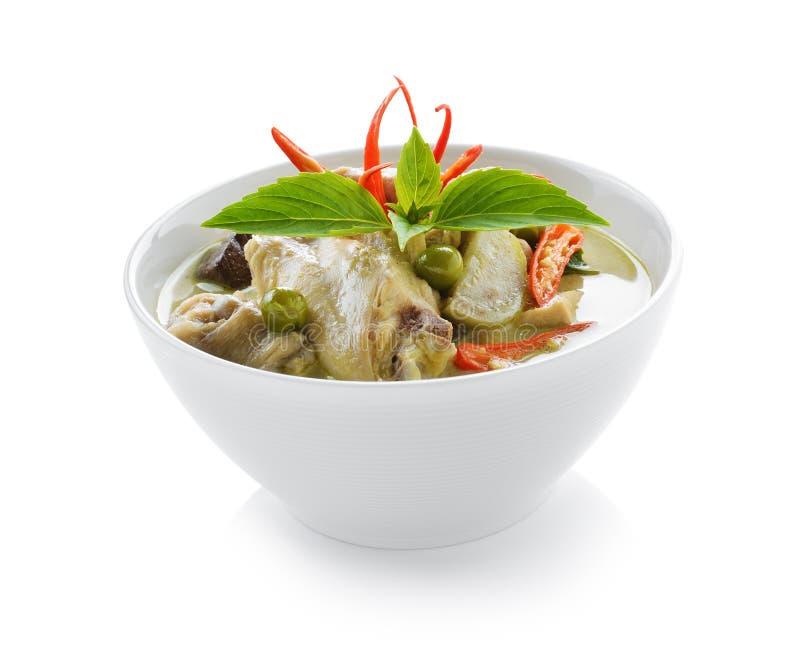 Culinária tailandesa no fundo branco fotos de stock royalty free