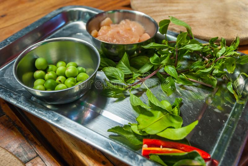 Culinária tailandesa que cozinha ingredientes fotos de stock royalty free