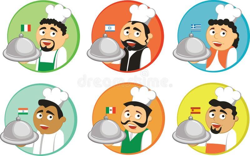 Culinárias nacionais ilustração do vetor
