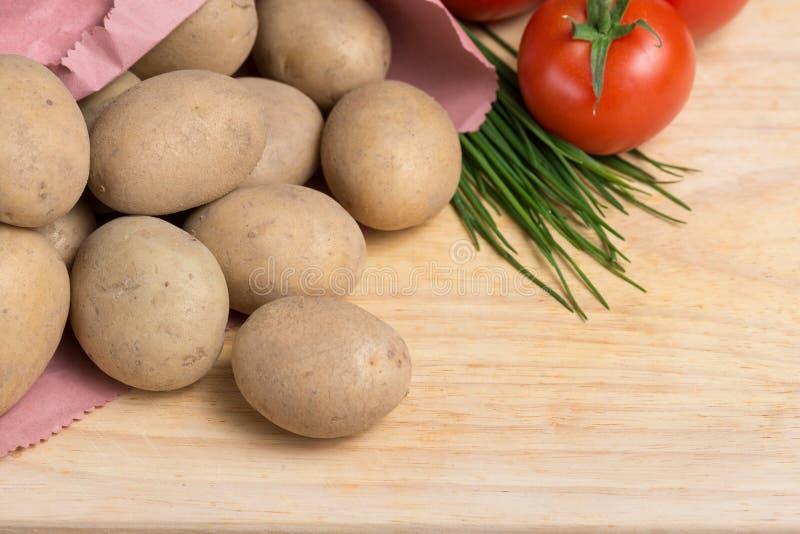 Culinaire aardappelachtergrond stock foto