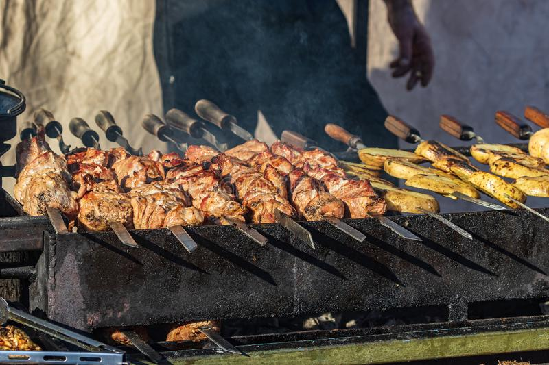Different types of delicious meat. royalty free stock photography