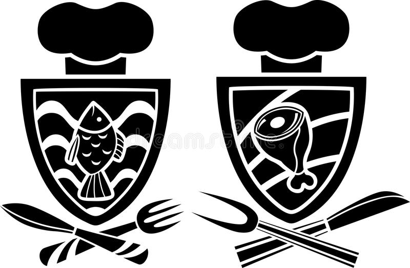 Download Culinary emblem stock vector. Image of white, emblem - 25159249