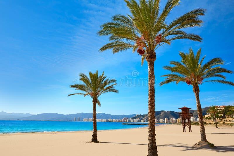 Cullera Playa los Olivos plaża Walencja przy Hiszpania obraz stock