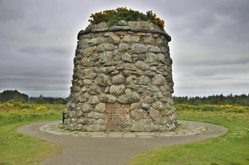 Culloden战场纪念品纪念碑 库存图片