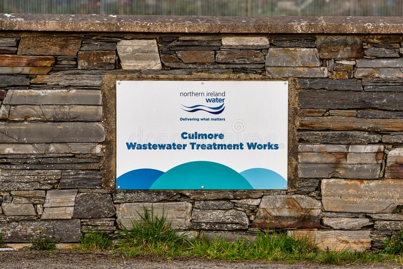 Culmore Wastewater Treatment Works royaltyfri fotografi