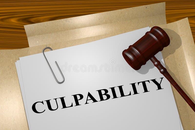 Culpabilité - concept juridique illustration stock