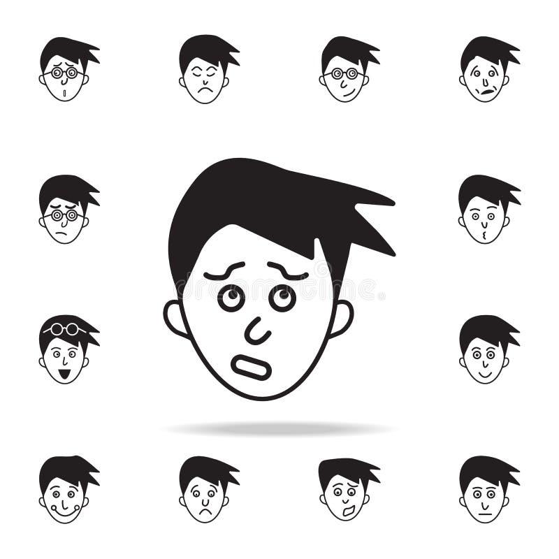 culpabilité sur l'icône de visage Ensemble détaillé d'icônes faciales d'émotions Conception graphique de la meilleure qualité Une illustration de vecteur