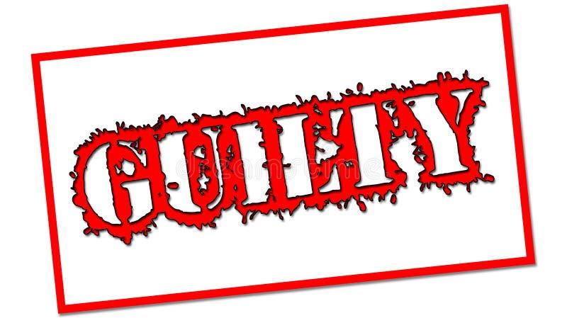 Culpado em um retângulo vermelho imagens de stock royalty free