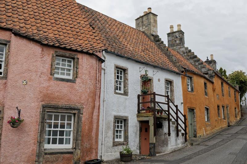 Culrossstad, Schotland stock foto's