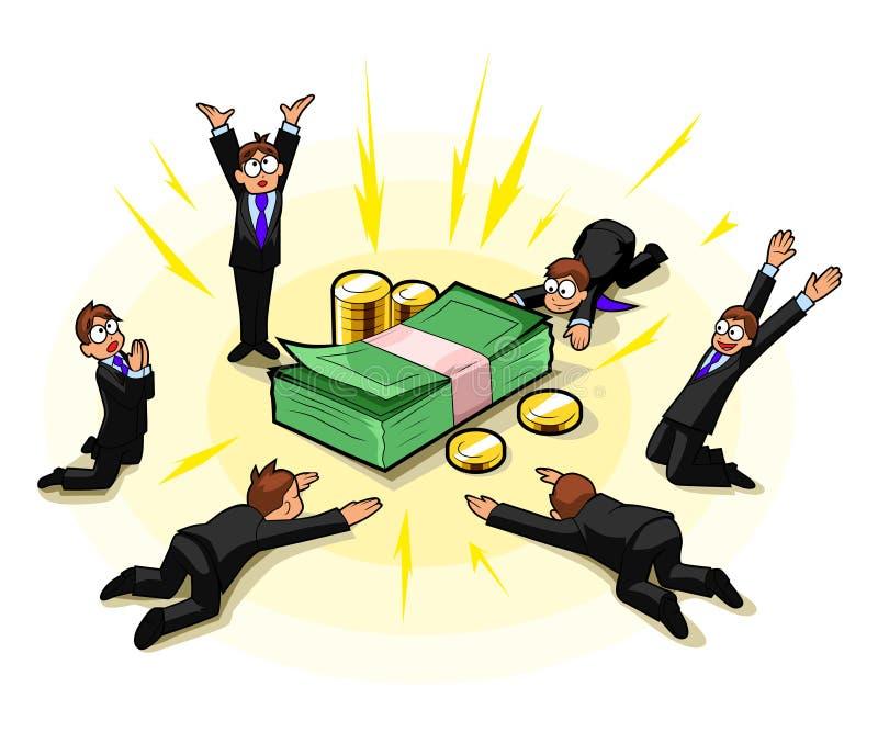 Culte d'argent illustration stock