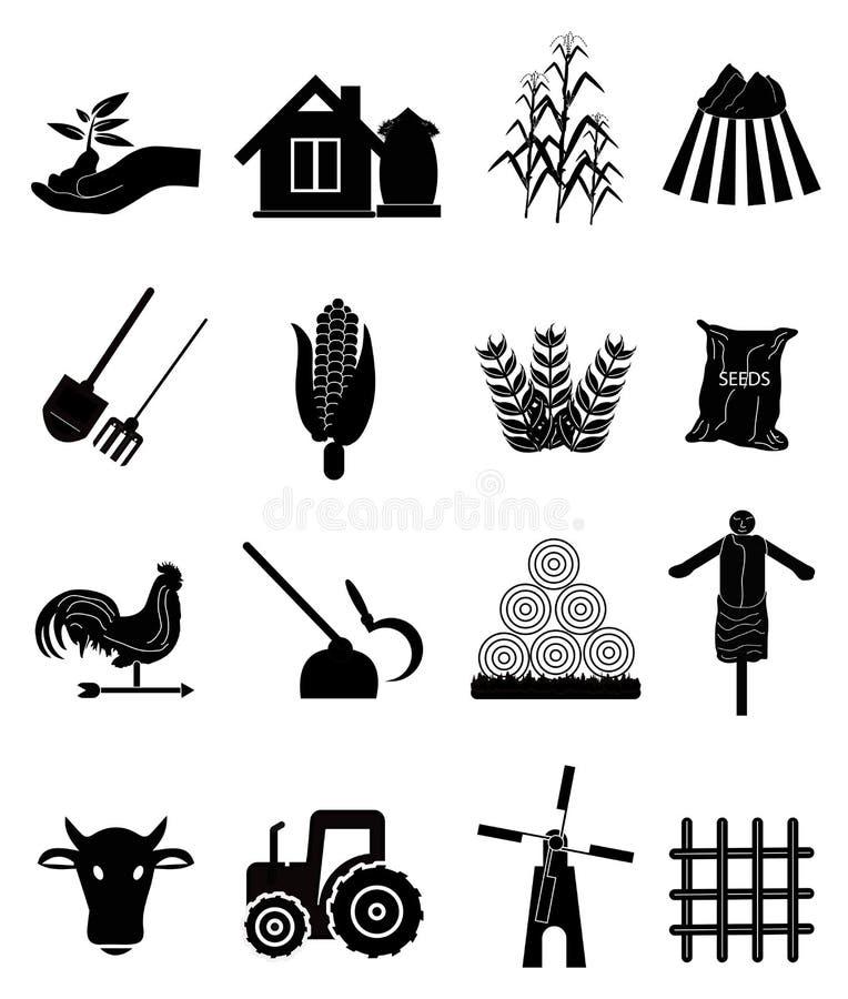 Cultivando ícones ilustração royalty free
