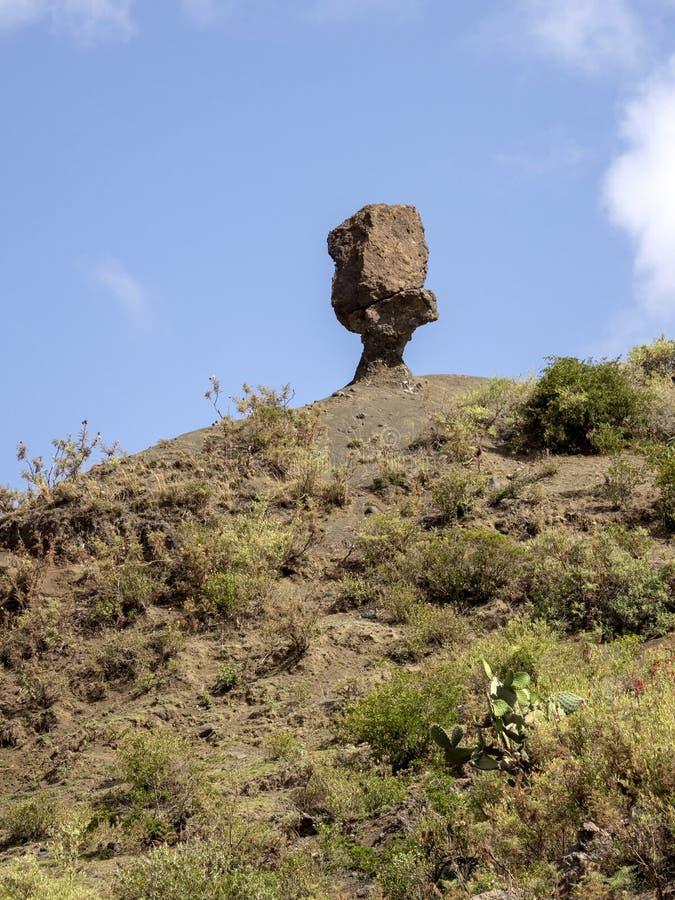 Cultivated farmland in mountain landscape, Ethiopia stock photo
