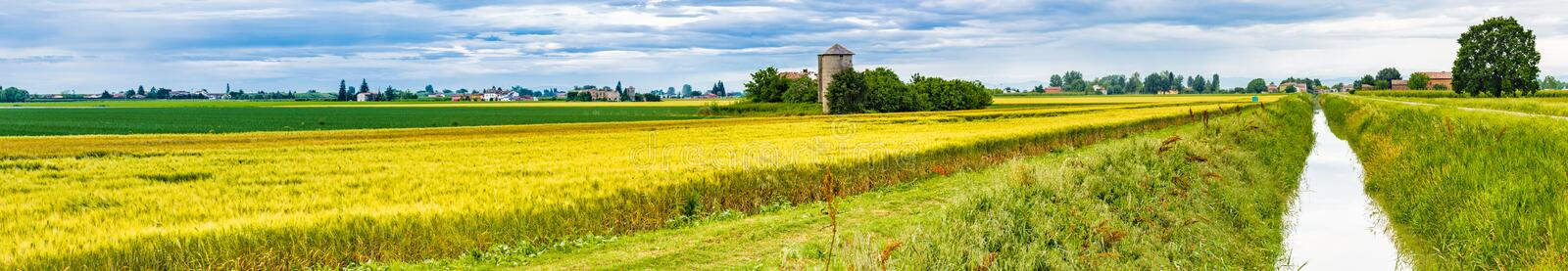 cultivated fields stock photo