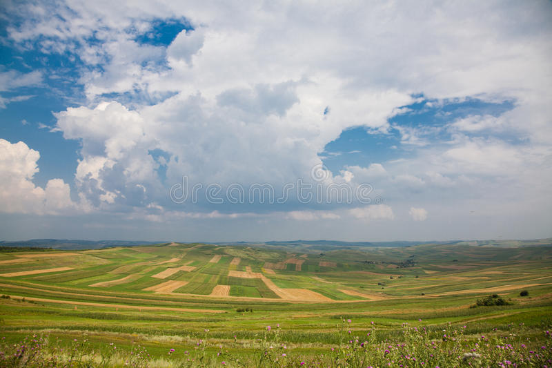 Download Cultivated Fields In Romania Royalty Free Stock Image - Image: 15460926