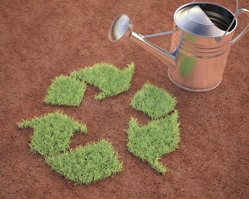 Download Cultivating Recycling stock illustration. Image of concept - 40384309