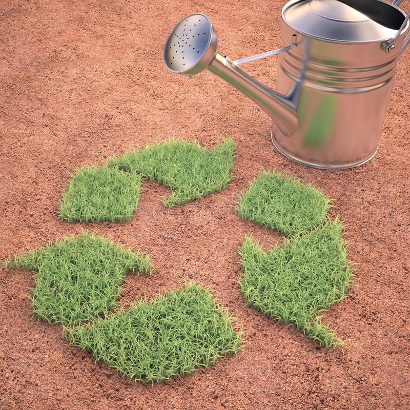 Cultivating Recycling Stock Photo