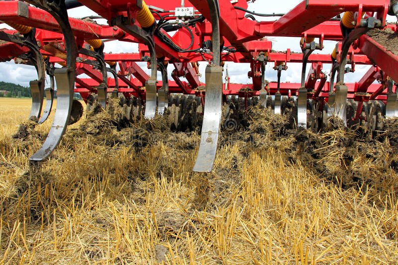 Cultivating Soil stock photo