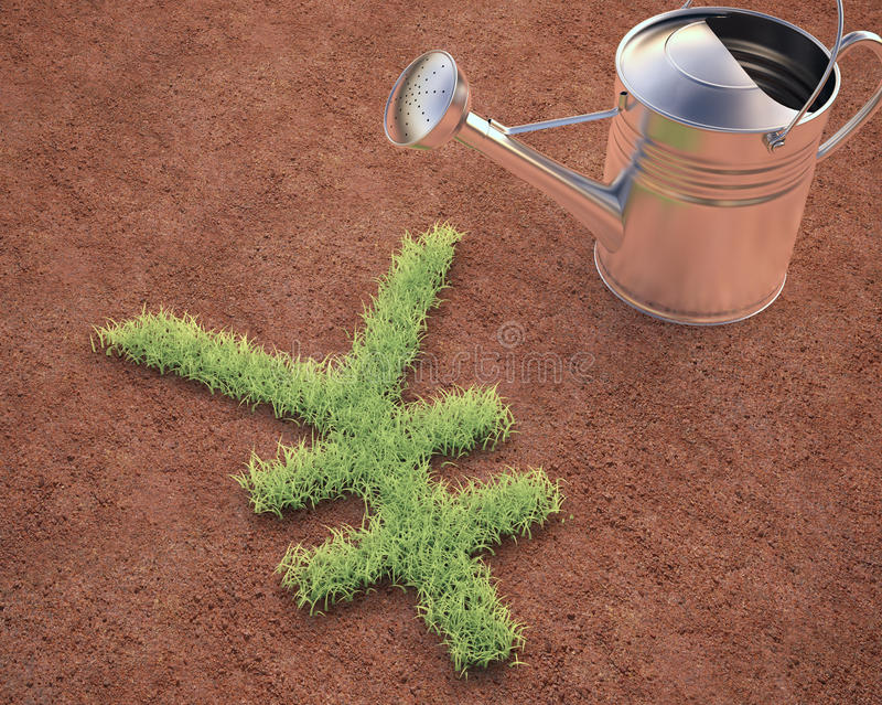 Download Cultivating Yen stock illustration. Image of growth, planting - 40384334