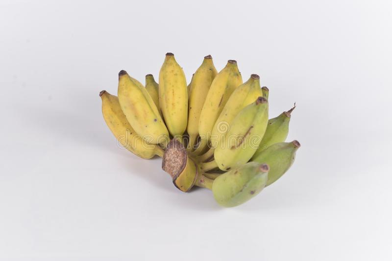 Cultive o objeto isolado banana fotografia de stock