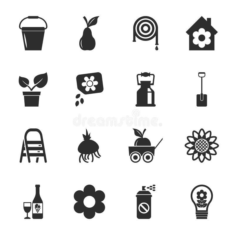 cultivez ensemble universel de jardinage de 16 ic nes pour le web et mobile illustration de. Black Bedroom Furniture Sets. Home Design Ideas