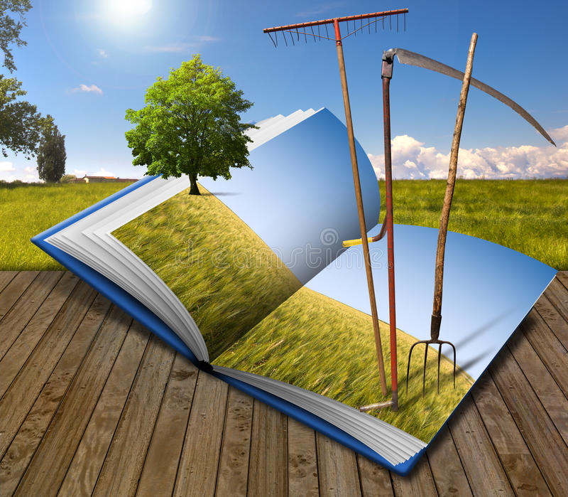 Cultivo del libro ilustración del vector