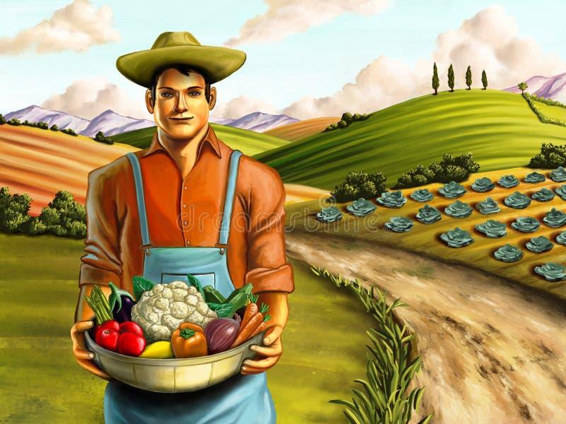 Cultivo dos vegetais ilustração do vetor