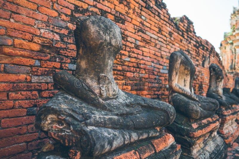 Culto della Tailandia, statua di Buddha, storia della Tailandia immagine stock