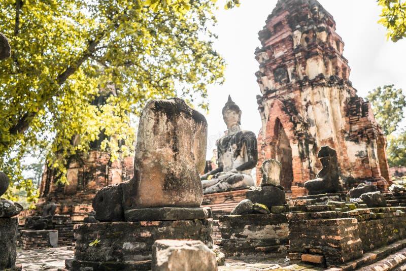 Culto della Tailandia, statua di Buddha, storia della Tailandia immagine stock libera da diritti