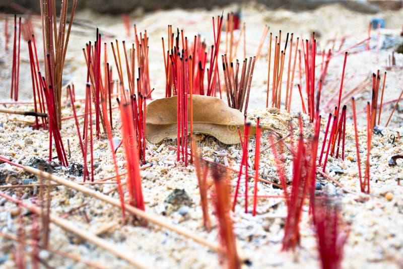 Culto delle candele di incenso in Tailandia fotografia stock libera da diritti