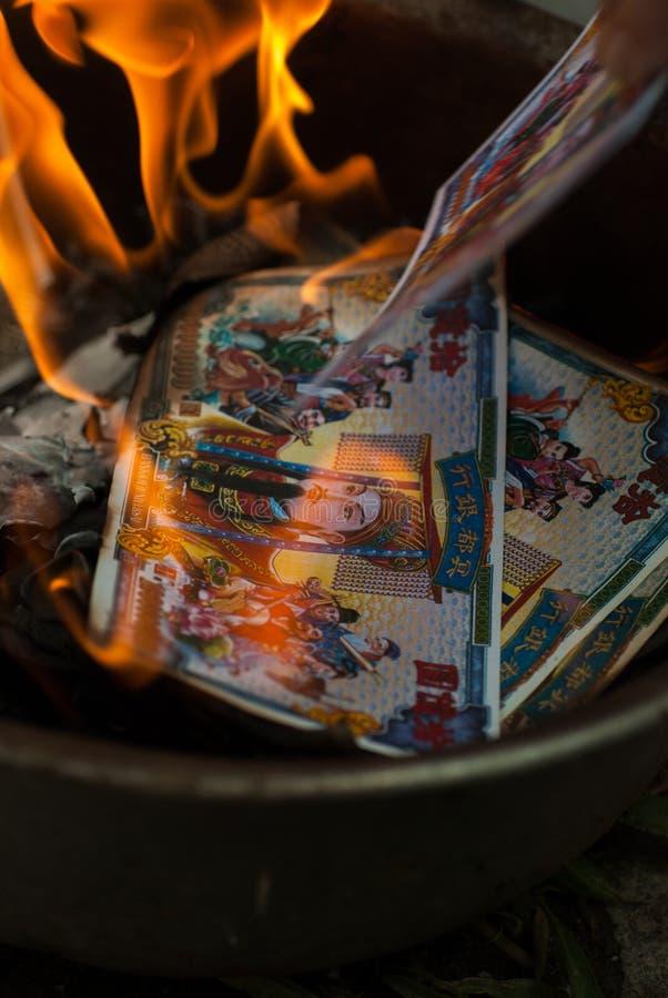 Culto di antenato sul nuovo anno cinese fotografia stock libera da diritti