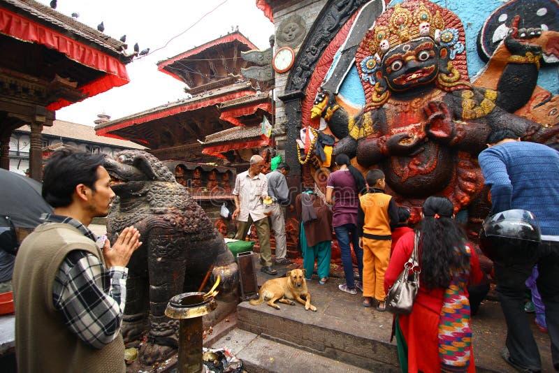 Culto a Kali, la dea del Nepal fotografia stock libera da diritti