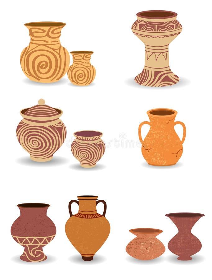 Cultura antiga da cerâmica fotografia de stock