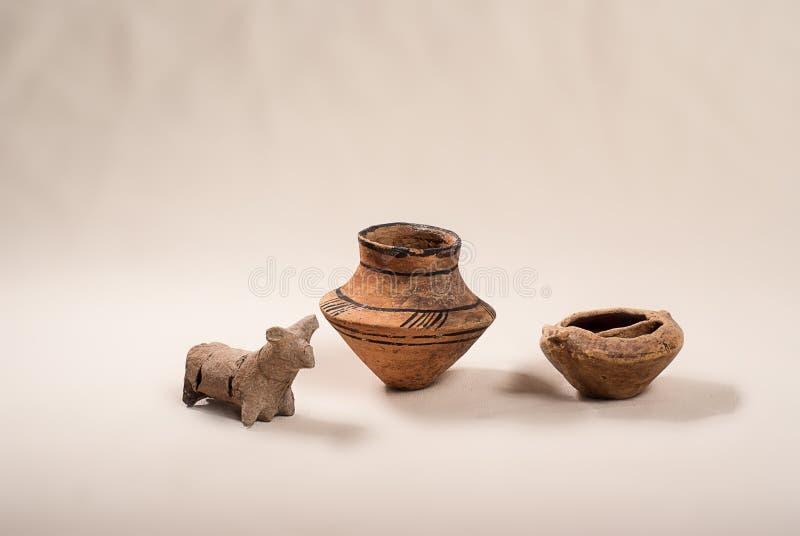 Cultura antigua Cucuteni de la cerámica foto de archivo libre de regalías