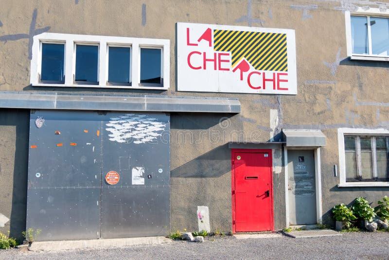 Cultura Association Centre Le CHERCHE a Cherbourg, Normandie, Francia fotografie stock libere da diritti