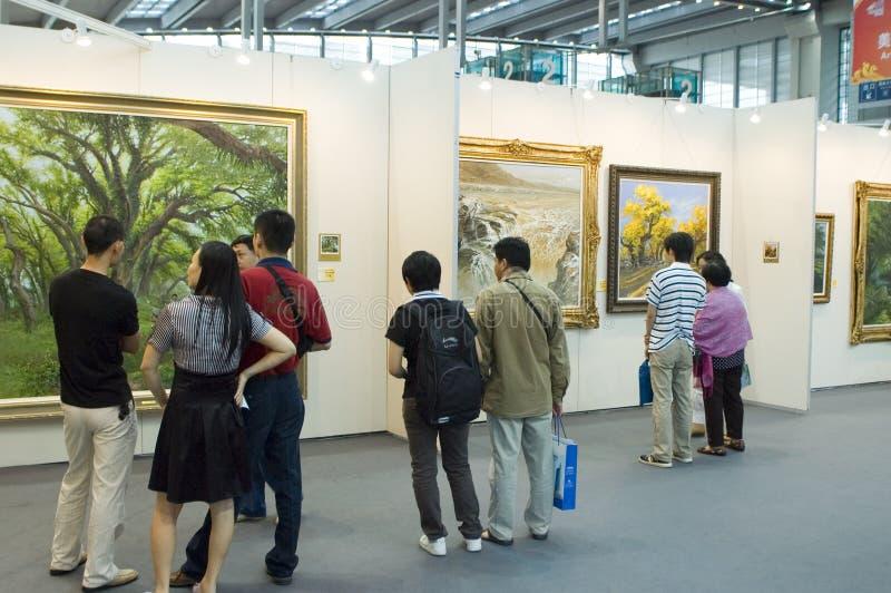 Cultura chinesa justa - galeria de arte fotografia de stock