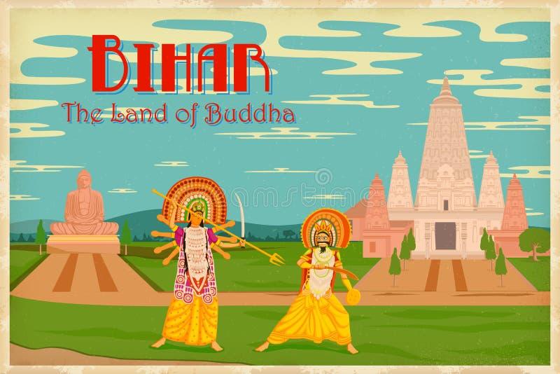 Cultura de Bihar ilustração stock