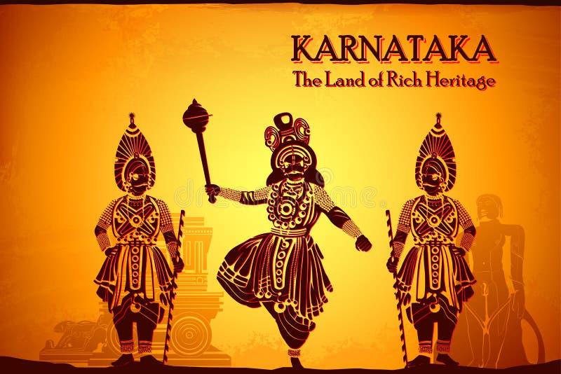 Cultura de Karnataka stock de ilustración