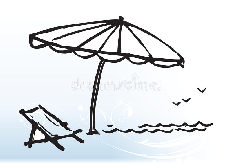 Cultura de la playa stock de ilustración