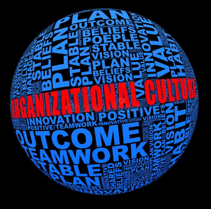 Cultura de organización en collage de la palabra ilustración del vector