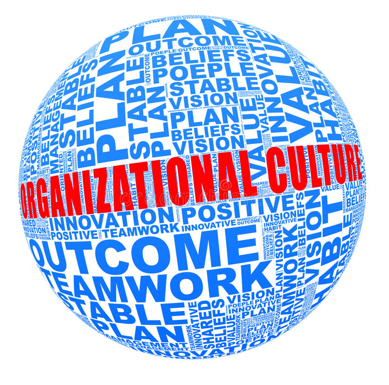 Cultura de organización en collage de la palabra libre illustration