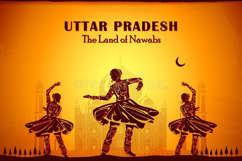 Cultura de Uttar Pradesh ilustración del vector