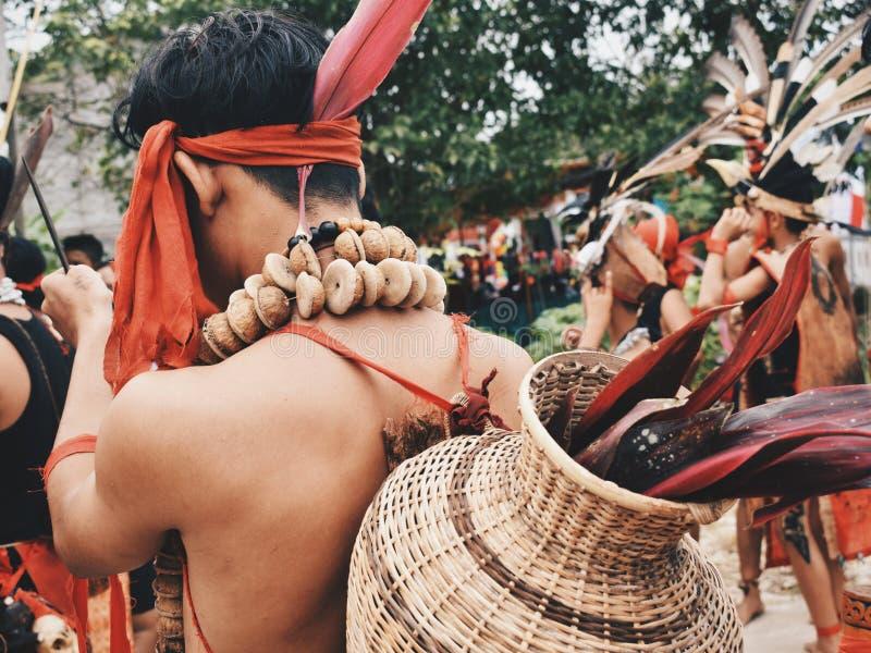 Cultura del Dayak fotografia stock libera da diritti
