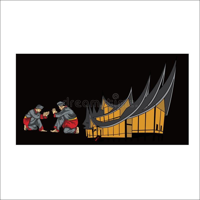Cultura del diseño indonesio Javanese del vector libre illustration